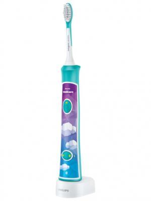 Зубная щетка PHILIPS Sonicare HX6322/04 For Kids. Цвет: бирюзовый, розовый