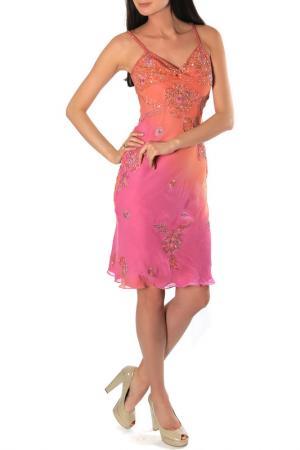 Платье Aftershock. Цвет: coral