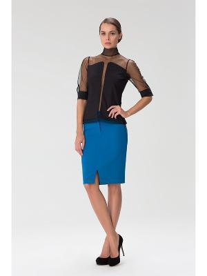 Женская блузка с высоким горлом INDIGIRA. Цвет: черный