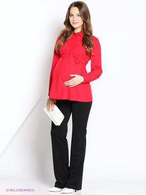 Блузка MammySize. Цвет: красный