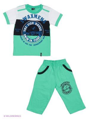 Комплект WAXMEN. Цвет: бирюзовый, зеленый