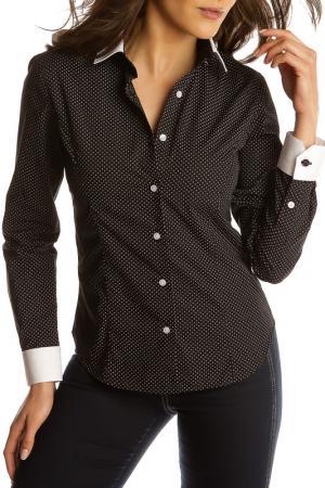 Рубашка GAZOIL. Цвет: черный