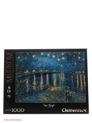Итальянский пазл Clementoni, серия Музей. Ван Гог Звёздная ночь над Роной. Clementoni. Цвет: черный, синий, бежевый, белый