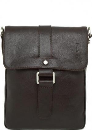 Кожаная сумка коричневого цвета с откидным клапаном Picard. Цвет: коричневый