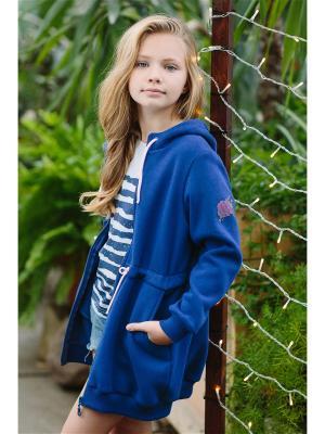 Куртка арт 168038 DUWALI. Цвет: синий
