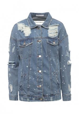 Куртка джинсовая SHK Mode. Цвет: синий