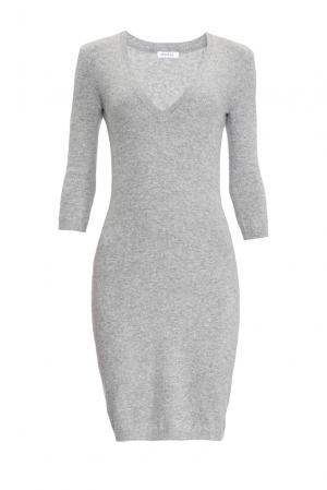 Кашемировое платье 154467 Myone Cashmere. Цвет: серый