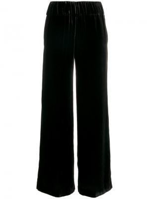 Расклешенные бархатные брюки Aspesi. Цвет: серый