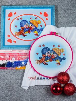 Набор для вышивания Одно на двоих Матренин Посад. Цвет: голубой