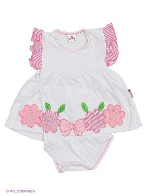 Боди Babycollection. Цвет: белый, розовый