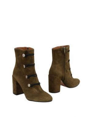 Полусапоги и высокие ботинки BIANCA DI. Цвет: зеленый-милитари