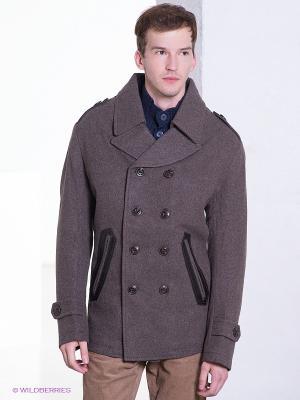 Пальто TOM FARR. Цвет: серо-коричневый