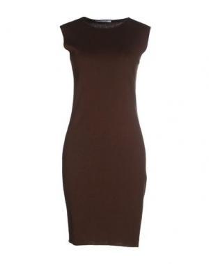 Короткое платье GENTRYPORTOFINO. Цвет: темно-коричневый
