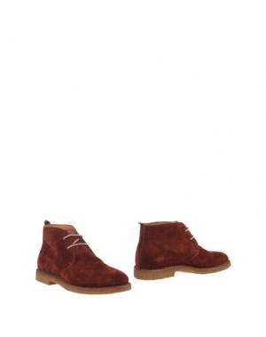 Полусапоги и высокие ботинки UIT. Цвет: какао