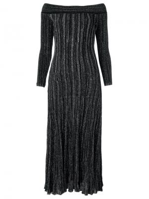 Off the shoulder knit dress Gig. Цвет: чёрный