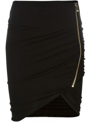 Асимметричная юбка Alexandre Vauthier. Цвет: чёрный