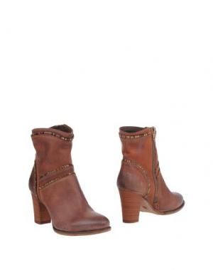 Полусапоги и высокие ботинки FABBRICA MORICHETTI. Цвет: какао