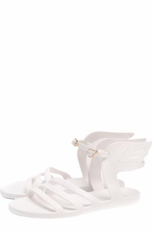 Резиновые сандалии Ikaria с декором Ancient Greek Sandals. Цвет: белый