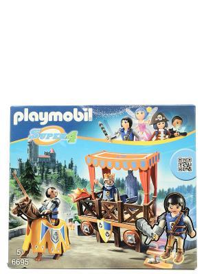 Супер4: Королевская Трибуна с Алексом Playmobil. Цвет: синий, коричневый