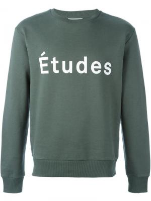 Толстовка с принтом логотипа Études. Цвет: зелёный