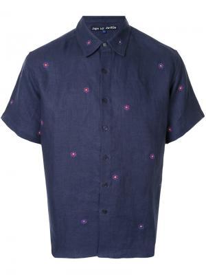Рубашка с цветочной вышивкой Jupe By Jackie. Цвет: чёрный