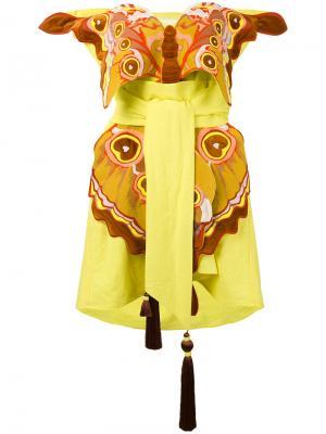 Платье Butterfly in Love Yuliya Magdych. Цвет: жёлтый и оранжевый