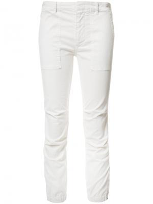 Укороченные брюки в стиле милитари Nili Lotan. Цвет: белый
