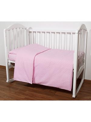 Постельное белье Baby Nice. Цвет: розовый