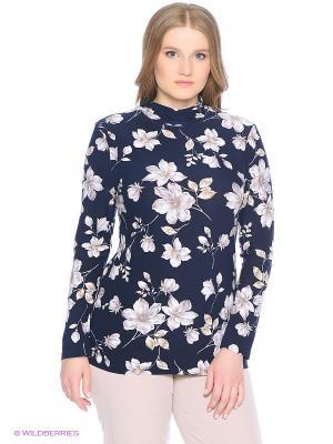 Блузка Yuliya Shehodanova. Цвет: темно-синий, молочный, черный