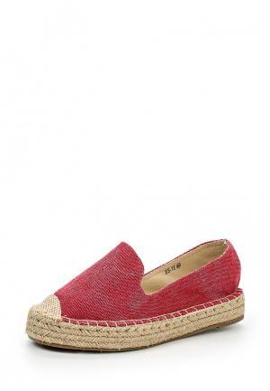 Эспадрильи WS Shoes. Цвет: красный