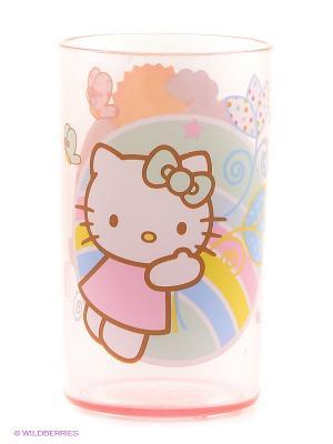 Стакан  Hello Kitty Trudeau. Цвет: прозрачный, розовый, светло-зеленый