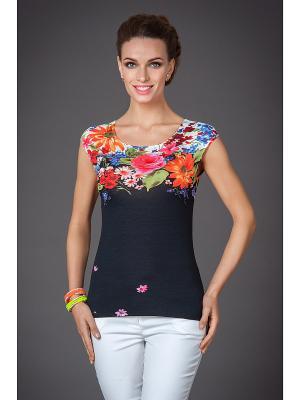 Блуза Арт-Деко. Цвет: черный, зеленый, красный, оранжевый