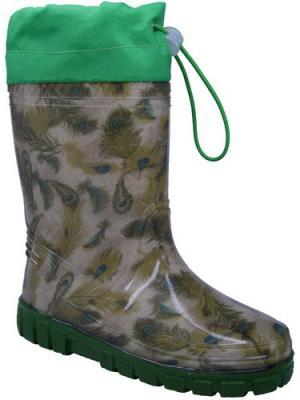 Резиновые сапоги Зебра. Цвет: зеленый