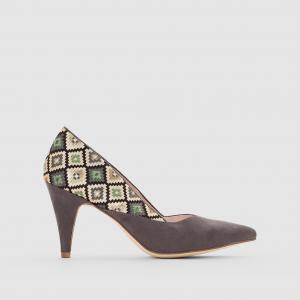 Туфли-лодочки с рисунком в стиле этно MADEMOISELLE R. Цвет: разноцветный
