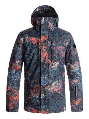 Куртка Quiksilver. Цвет: антрацитовый, морская волна, оранжевый
