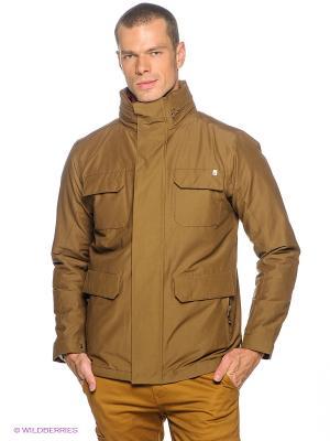 Куртка LELAND Quiksilver. Цвет: коричневый