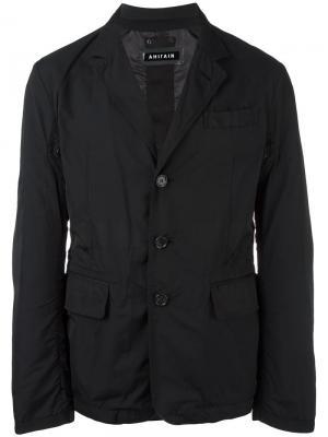 Легкая куртка-пиджак Ahirain. Цвет: чёрный