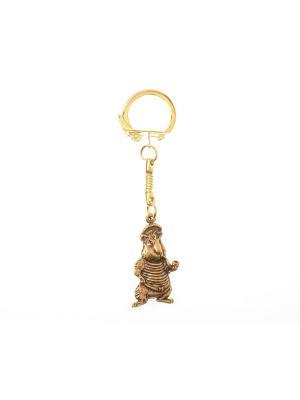 Брелок Бобёр с трубкой Aztek. Цвет: бронзовый, светло-оранжевый, желтый, коричневый