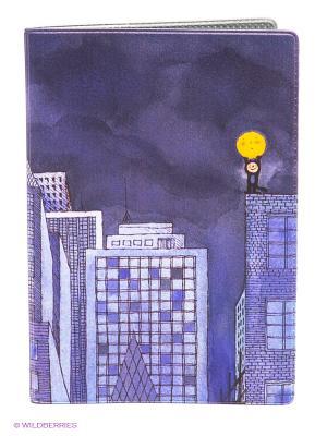 Обложка для автодокументов Мальчик и Луна Mitya Veselkov. Цвет: фиолетовый