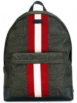 Рюкзак с контрастными полосками Bally. Цвет: зелёный