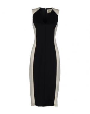 Платье длиной 3/4 FAUSTO PUGLISI. Цвет: черный
