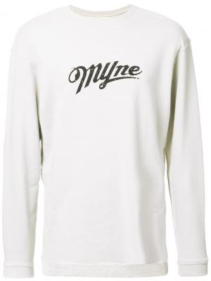 Толстовка с логотипом Myne. Цвет: коричневый