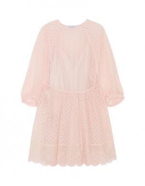 Хлопковое платье Philosophy Di Lorenzo Serafini. Цвет: розовый