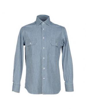 Джинсовая рубашка ALAIN FRACASSÍ. Цвет: синий