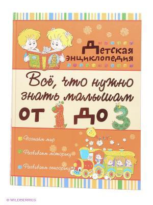 Всё, что нужно знать малышам от 1 до 3 лет. Детская энциклопедия Издательство АСТ. Цвет: оранжевый