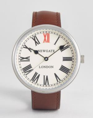Newgate Часы с коричневым кожаным ремешком. Цвет: коричневый