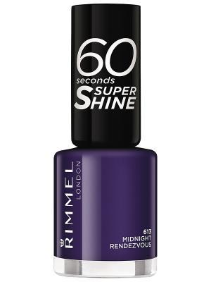 Лак для ногтей rimmel 60 seconds super shine, тон 613. Цвет: темно-синий