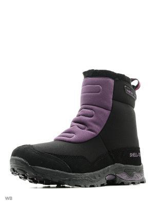 Ботинки Milton. Цвет: черный, фиолетовый