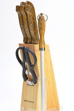 Набор ножей 8 пр. Mayer&Boch. Цвет: коричневый