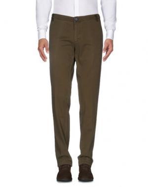 Повседневные брюки DIMATTIA. Цвет: зеленый-милитари